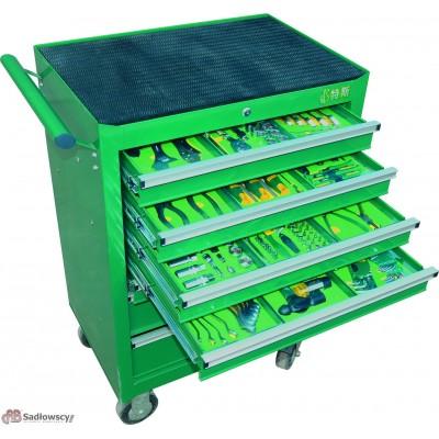 Wózek narzędziowy 7 szufladowy z wyposażeniem 215 Elementów