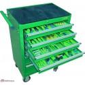 Wózek narzędziowy 7 szufladowy z wyposażeniem 298 Elementów