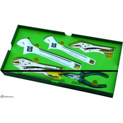 Zestaw kluczy regulowanych i szczypce 5 sztuk