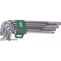 Kpl kluczy torx długich 9 sztuk (T10-T55)